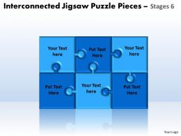interconnected_jigsaw_puzzle_pieces_stages_6_powerpoint_templates_Slide01