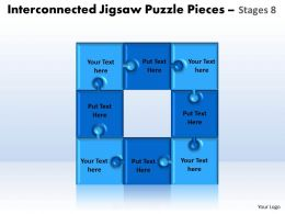 interconnected jigsaw puzzle pieces stages 8 powerpoint templates