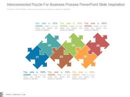 Interconnected Puzzle For Business Powerpoint Slide Inspiration