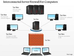 Interconnected Server Firewall For Computers Ppt Slides