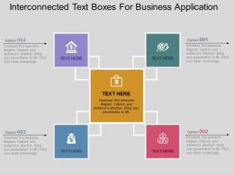 Interconnected Text Boxes For Business Application Flat Powerpoint Design