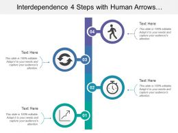 Interdependence 4 Steps With Human Arrows Clock Graph Image