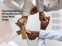 Interdependence All Hands Joined Team Work Image