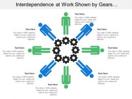 Interdependence At Work Shown By Gears And Humans