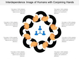 Interdependence Image Of Humans With Conjoining Hands