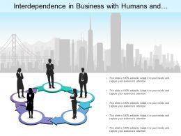 Interdependence In Business With Humans And City Background