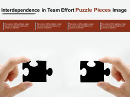 Interdependence In Team Effort Puzzle Pieces Image