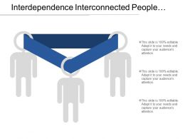 Interdependence Interconnected People Diagram