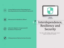 Interdependence Resiliency And Security N589 Powerpoint Presentation Elements