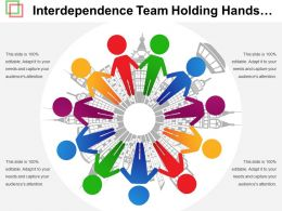 Interdependence Team Holding Hands Graphic