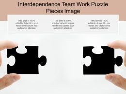 Interdependence Team Work Puzzle Pieces Image