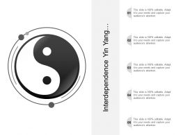 Interdependence Yin Yang Image With Text Boxes