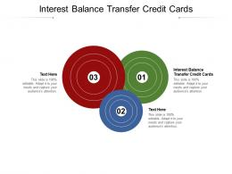 Interest Balance Transfer Credit Cards Ppt Powerpoint Presentation Model Icon Cpb