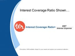 Interest Coverage Ratio Shown By Humans And Percentage
