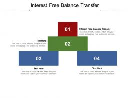 Interest Free Balance Transfer Ppt Powerpoint Infographic Template Background Cpb