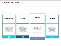 Interest Income Ppt Powerpoint Presentation Styles Infographics Cpb