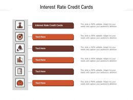Interest Rate Credit Cards Ppt Powerpoint Presentation Inspiration Graphics Download Cpb