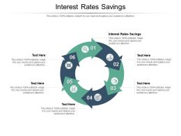 Interest Rates Savings Ppt Powerpoint Presentation Icon Objects Cpb