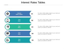 Interest Rates Tables Ppt Powerpoint Presentation Summary Slide Download Cpb