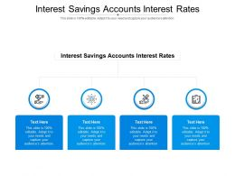 Interest Savings Accounts Interest Rates Ppt Powerpoint Presentation Gallery Themes Cpb