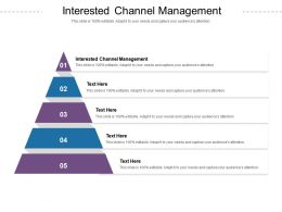 Interested Channel Management Ppt Powerpoint Presentation Slides Show Cpb