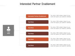 Interested Partner Enablement Ppt Powerpoint Presentation Gallery Microsoft Cpb