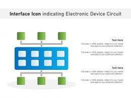 Interface Icon Indicating Electronic Device Circuit
