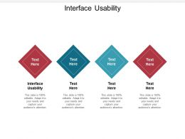 Interface Usability Ppt Powerpoint Presentation Gallery Graphics Example Cpb