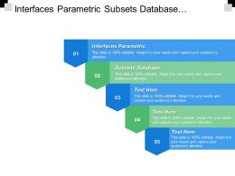 Interfaces Parametric Subsets Database Variety Must Provide Facilities