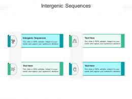 Intergenic Sequences Ppt Powerpoint Presentation Visual Aids Diagrams Cpb