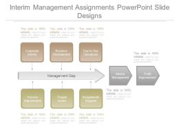 Interim Management Assignments Powerpoint Slide Designs