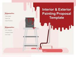 Interior And Exterior Painting Proposal Template Powerpoint Presentation Slides