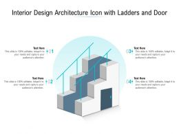 Interior Design Architecture Icon With Ladders And Door
