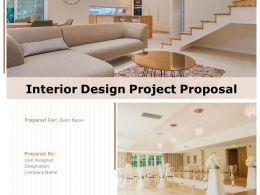 Interior Design Project Proposal Powerpoint Presentation Slides