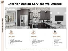 Interior Design Services We Offered Renovate Ppt Powerpoint Presentation Slides Clipart