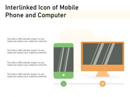 Interlinked Icon Of Mobile Phone And Computer