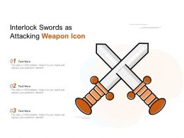 Interlock Swords As Attacking Weapon Icon
