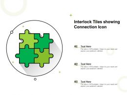 Interlock Tiles Showing Connection Icon