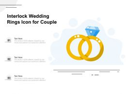 Interlock Wedding Rings Icon For Couple