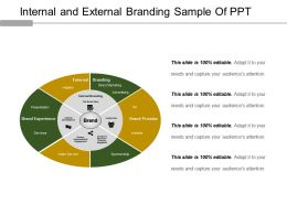 Internal And External Branding Sample Of Ppt