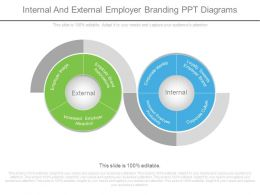 Internal And External Employer Branding Ppt Diagrams