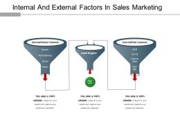 Internal And External Factors In Sales Marketing Ppt Icon
