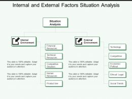 Internal And External Factors Situation Analysis