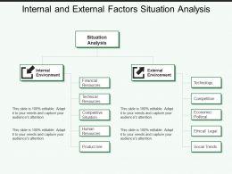 Internal And External Factors Situation Analysis