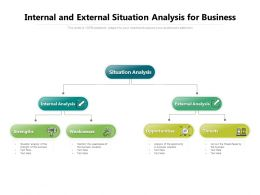 Internal And External Situation Analysis For Business