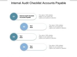 Internal Audit Checklist Accounts Payable Ppt Powerpoint Presentation Inspiration Show Cpb