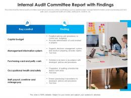 Internal Audit Committee Report With Findings