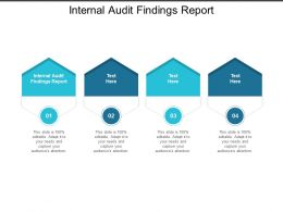 Internal Audit Findings Report Ppt Powerpoint Presentation Icon Background Image Cpb