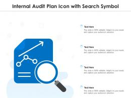 Internal Audit Plan Icon With Search Symbol