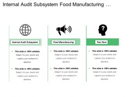 Internal Audit Subsystem Food Manufacturing Finance Accounting Systems